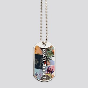 TravelAddictPoster Dog Tags