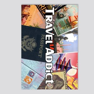 TravelAddictPoster Postcards (Package of 8)