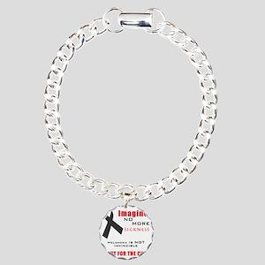 Melanoma not Invincible  Charm Bracelet, One Charm
