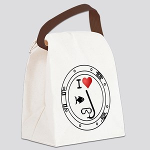Iheart-snkl Canvas Lunch Bag