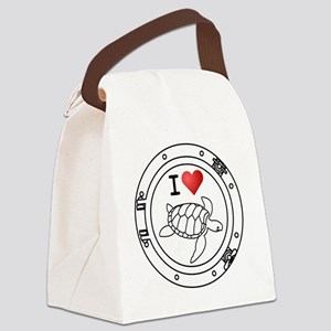 Iheart-trtles Canvas Lunch Bag