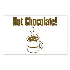 Hot Chocolate Rectangle Decal