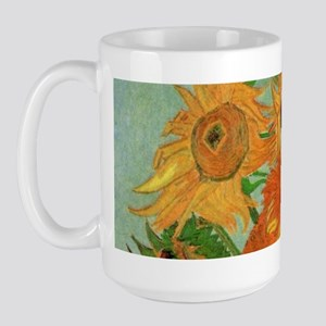 Van Gogh Sunflowers Wraparound Large Mug