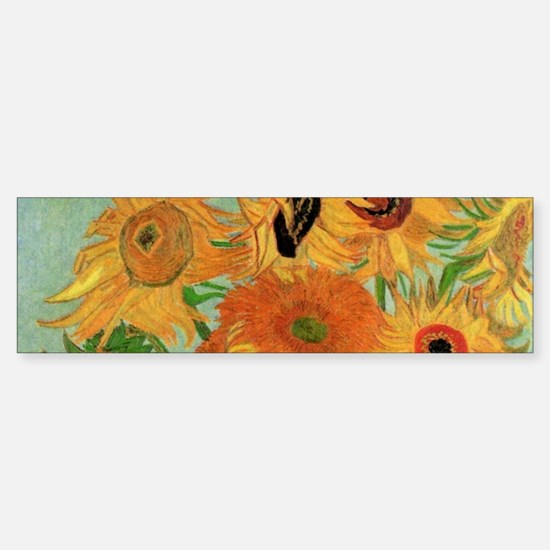 Van Gogh Sunflowers Wraparound Sticker (Bumper)