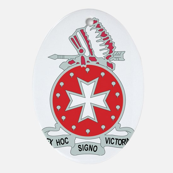 DUI-14TH F A RGT Oval Ornament