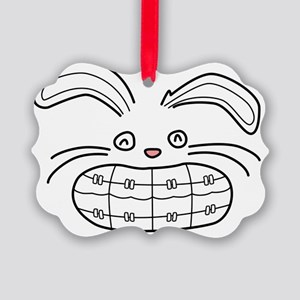 Bunny-Brace-black Picture Ornament