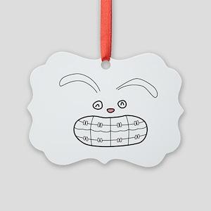 Bunny-Brace-color Picture Ornament