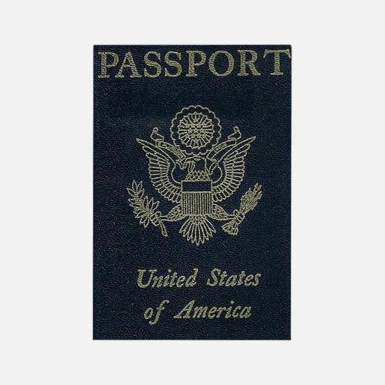 Passport Rectangle Magnet