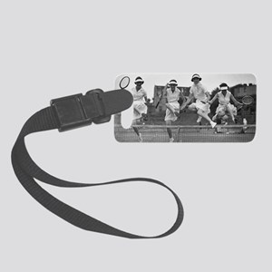 Women with Tennis Rackets Small Luggage Tag