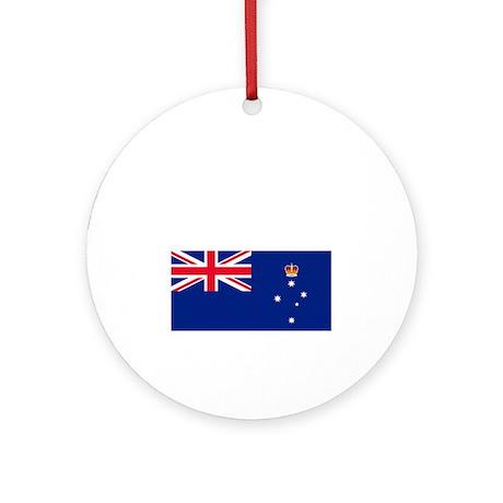 Victoria-Dark Round Ornament