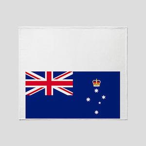 Victoria-Dark Throw Blanket