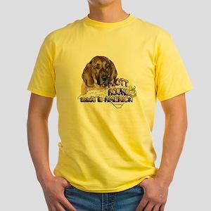 AMERICAN PLOTT HOUND Yellow T-Shirt
