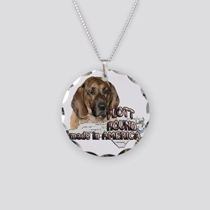 AMERICAN PLOTT HOUND Necklace Circle Charm
