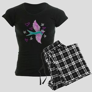 Sketchy Swallow blackS Women's Dark Pajamas
