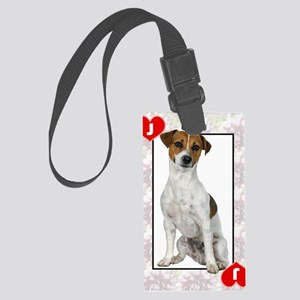 FIN-jack-of-hearts Large Luggage Tag
