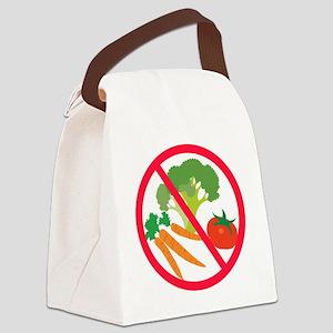 No Veggies Canvas Lunch Bag