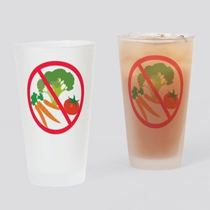 No Veggies Drinking Glass