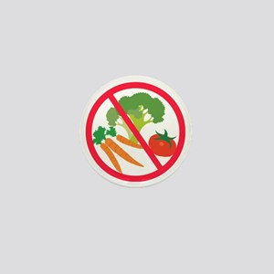 No Veggies Mini Button