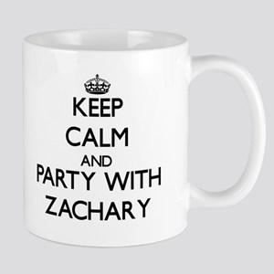 Keep Calm and Party with Zachary Mugs
