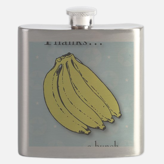 Banana bunch thank you greeting cardg Flask