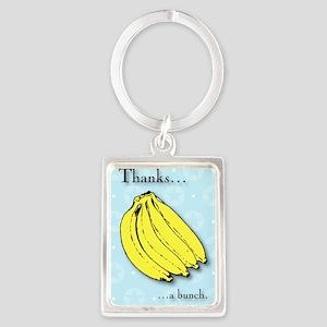 Banana bunch thank you greeting  Portrait Keychain