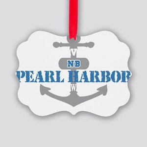 HI Pearl Harbor 2 Picture Ornament