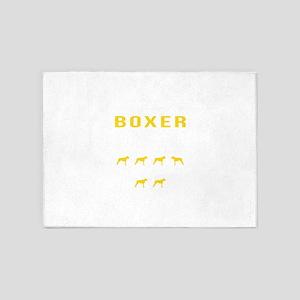 Boxer Stubborn Tricks 5'x7'Area Rug