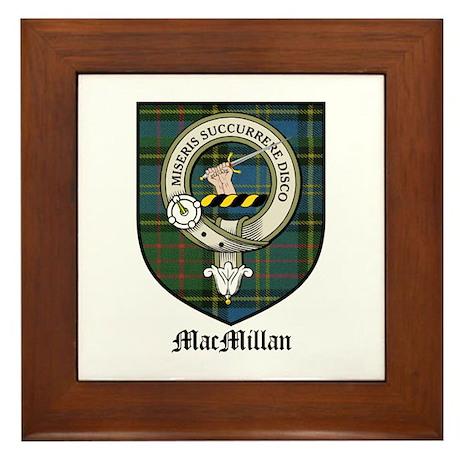 MacMillan Clan Crest Tartan Framed Tile