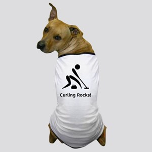 Curling Rocks Black Dog T-Shirt