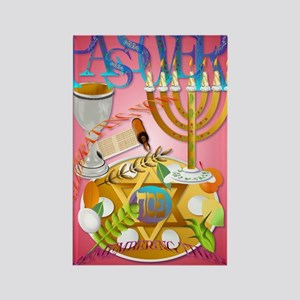 LargePoster Pass Over Seder Rectangle Magnet