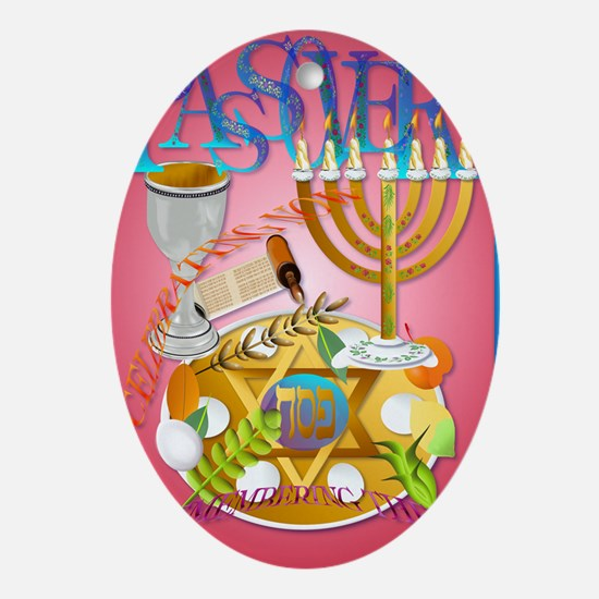 LargePoster Pass Over Seder Oval Ornament