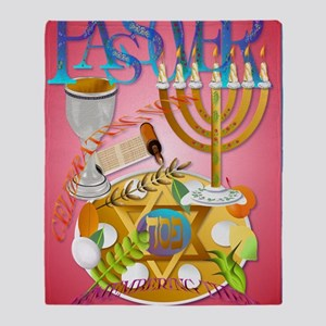 LargePoster Pass Over Seder Throw Blanket