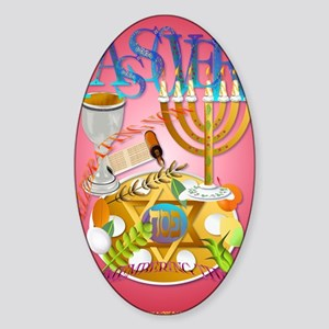 LargePoster Pass Over Seder Sticker (Oval)