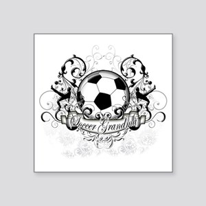 "Soccer Grandma Square Sticker 3"" x 3"""
