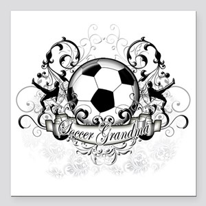 "Soccer Grandma Square Car Magnet 3"" x 3"""