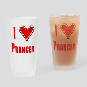 I Love Prancer with Heart and Candy Drinking Glass
