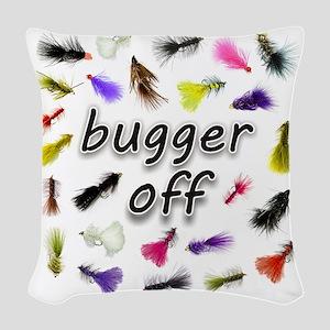 buggeroff Woven Throw Pillow