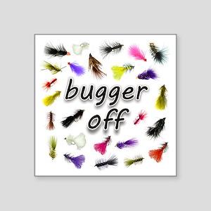 """buggeroff Square Sticker 3"""" x 3"""""""
