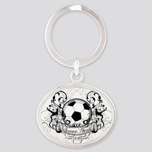 Soccer Aunt Oval Keychain
