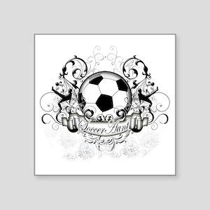 """Soccer Aunt Square Sticker 3"""" x 3"""""""