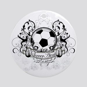 Soccer Aunt Round Ornament