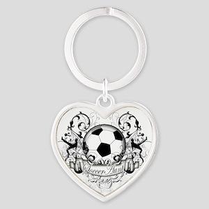Soccer Aunt Heart Keychain