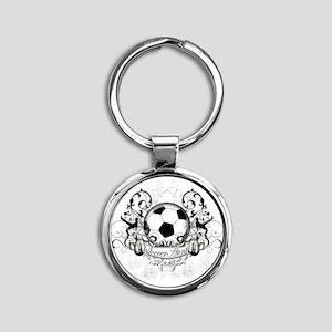 Soccer Aunt Round Keychain