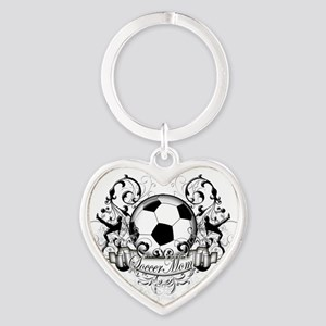 Soccer Mom Heart Keychain