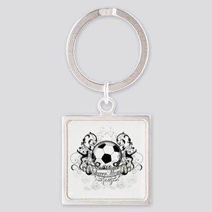 Soccer Mom Square Keychain