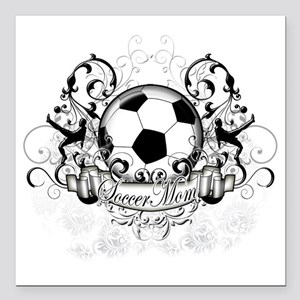 "Soccer Mom Square Car Magnet 3"" x 3"""