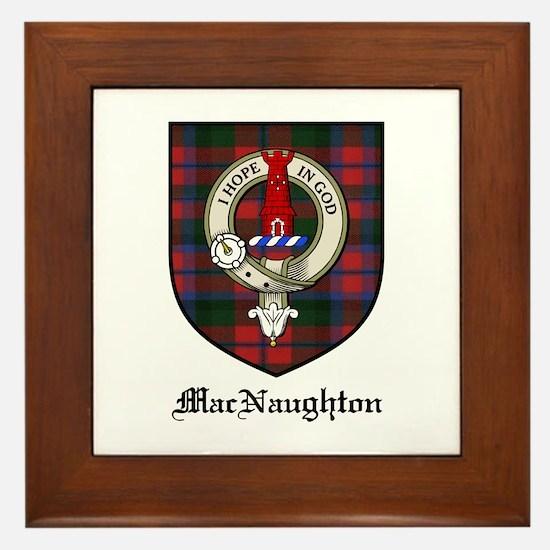 MacNaughton Clan Crest Tartan Framed Tile