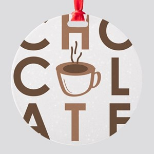 HOT CHOCOLATE (boy) Round Ornament