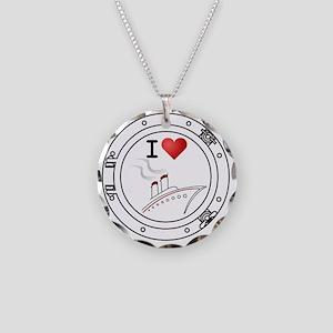 IHeartCruiseShips2 Necklace Circle Charm