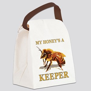 My Honey Is A Keeper Canvas Lunch Bag